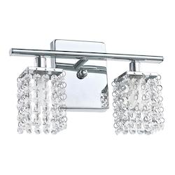 Eglo Two Light Chrome Vanity