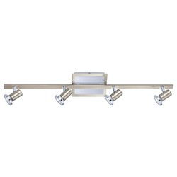 Eglo Four Light Nickel Track Kit