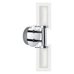 Eglo Chrome Palermo Two-Bulb Wall Sconce