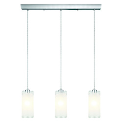 Eglo Matte Nickel 3 Light Island / Billiard Fixture from the Felice Collection