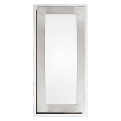 Eglo Nickel and Chrome Eos Single-Bulb Wall Sconce