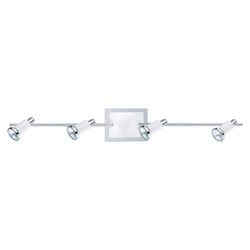 Eglo Chrome and Shiny White Eridan 4x50W Track Light in Chrome and Shiny White Finish