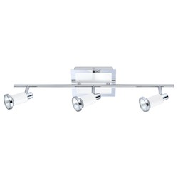 Eglo Chrome and Shiny White Eridan 3x50W Track Light in Chrome and Shiny White Finish