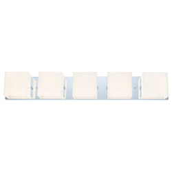 Eglo Chrome Alea 1 Five Light Bathroom Vanity Light with Coated Opal Glass Shades