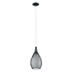Eglo Open Box Black Razoni 1 Light Mini Pendant with Black Finish