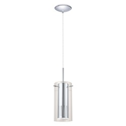 Eglo Chrome Pinto 1 1x50W Mini Pendant in Chrome Finish