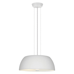 Eglo White 2 Light 1 Tier Pendant from the Ryan Collection - (Bulbs Included)