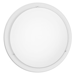 Eglo White Planet One-Bulb Wall/Ceiling Fixture