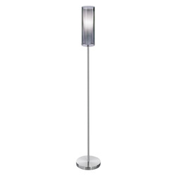 Eglo Matte Nickel 1 Light Floor Lamp from the Pinto Nero Collection