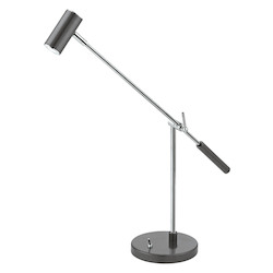 Eglo Anthracite / Chrome Lauria-1 Single Light LED 19.875in. Long Desk Lamp