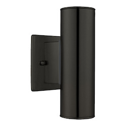 Eglo Matte Black Riga 2 Light Outdoor Wall Sconce