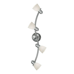Eglo Matte Nickel Dakar 1 Four-Bulb Wall Sconce