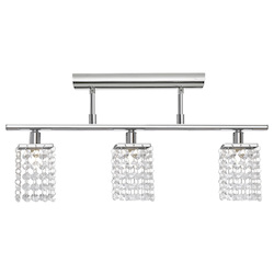 Eglo Chrome Pyton Three-Bulb Ceiling Fixture