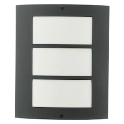 Eglo Anthracite City Single-Bulb Outdoor Sconce