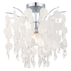Eglo Chrome Fedra 1 Light Semi-Flush Mount Ceiling Fixture