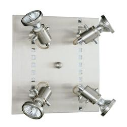 Eglo Nickel and Chrome Fizz Four-Bulb Wall Sconce