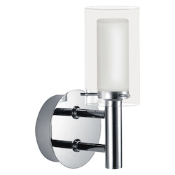 Eglo Chrome Palermo Single-Bulb Wall Sconce