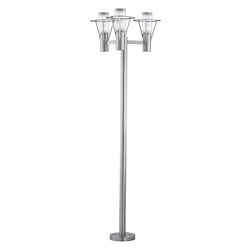 Eglo Metal Outdoor Post Light/6 Stainless Steel