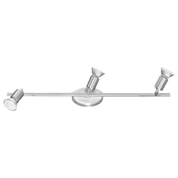 Eglo Nickel and Chrome Buzz Three-Light Wall Sconce
