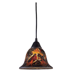 ELK Lighting One Light Dark Rust Down Pendant