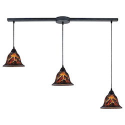ELK Lighting Three Light Dark Rust Multi Light Pendant