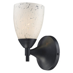 ELK Lighting One Light Deep Rust Snow White Glass Wall Light