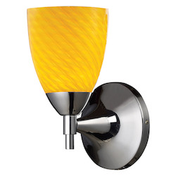 ELK Lighting One Light Polished Chrome Canary Glass Wall Light