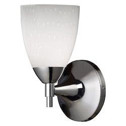 ELK Lighting One Light Polished Chrome Simple White Glass Wall Light