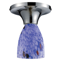 ELK Lighting Celina Semi-Flush With Starburst Blue Glass