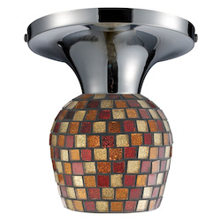 ELK Lighting Celina Semi-Flush With Multi Fusion Glass