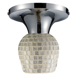 ELK Lighting Celina Semi-Flush With Adaptor Kit Silver Glass