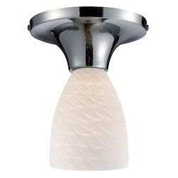 ELK Lighting Celina Semi-Flush With Adaptor Kit White Swirl Glass