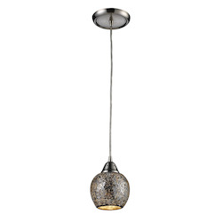 ELK Lighting One Light Satin Nickel Down Mini Pendant
