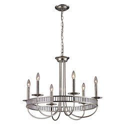 ELK Lighting Six Light Polished Chrome Up Chandelier