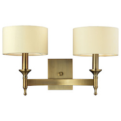 ELK Lighting Two Light Antique Brass Wall Light