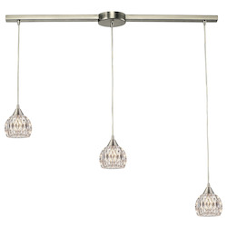 ELK Lighting Kersey - Three Light Chandelier
