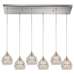 ELK Lighting Kersey - Six Light Chandelier