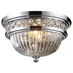 ELK Lighting Two Light Polished Chrome Bowl Flush Mount