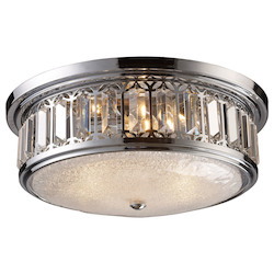 ELK Lighting Three Light Polished Chrome Drum Shade Flush Mount