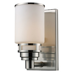 ELK Lighting One Light Satin Nickel Bathroom Sconce