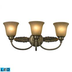 ELK Lighting Three Light Antique Brass Vanity