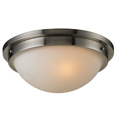 ELK Lighting Two Light Brushed Nickel Bowl Flush Mount