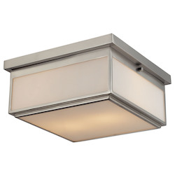 ELK Lighting Two Light Flush Mount With Opal White Glass Shade