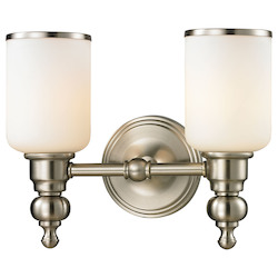 ELK Lighting Bristol - Two Light Bath Bar Brushed Nickel Finish