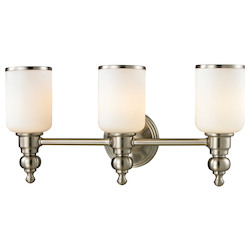 ELK Lighting Bristol - Three Light Bath Bar Brushed Nickel Finish