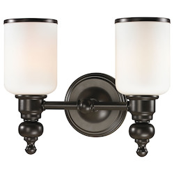 ELK Lighting Bristol - Two Light Bath Bar Oil Rubbed Bronze Finish