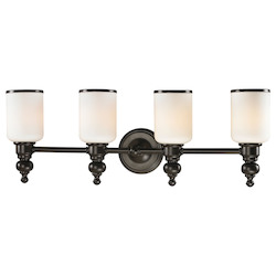 ELK Lighting Bristol - Four Light Bath Bar Oil Rubbed Bronze Finish