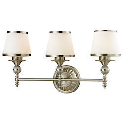 ELK Lighting Smithfield - Three Light Bath Bar Brushed Nickel Finish