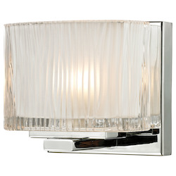 ELK Lighting One Light Bath Bar Polished Chrome Finish With Chiseled Glass