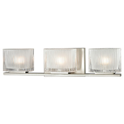 ELK Lighting Three Light Bath Bar Brushed Nickel